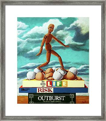 Walking On Eggshells Imaginative Realistic Painting Framed Print