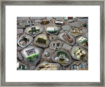 Framed Print featuring the photograph Walking On History by Sandro Rossi