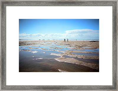 Walking On Sand Framed Print by Svetlana Sewell