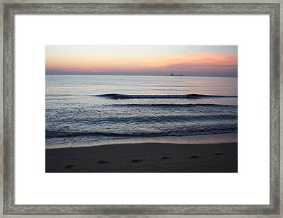 Framed Print featuring the photograph Walking On Shore by Eric Christopher Jackson