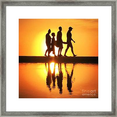 Walking On Sunshine Framed Print