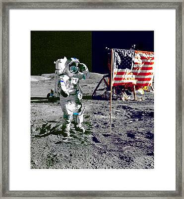 Walking On The Moon-2 Framed Print by Otis Porritt