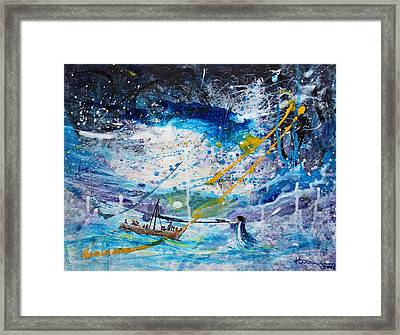 Walking On The Water Framed Print by Kume Bryant