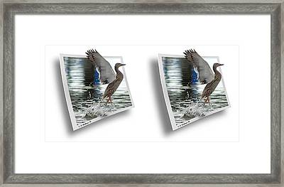 Walking On Water - Gently Cross Your Eyes And Focus On The Middle Image Framed Print by Brian Wallace