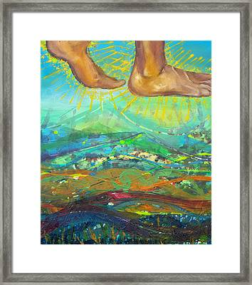 Walking On Water Panel 2 Framed Print by Anne Cameron Cutri