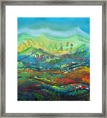 Walking On Water Panel 4 Framed Print by Anne Cameron Cutri