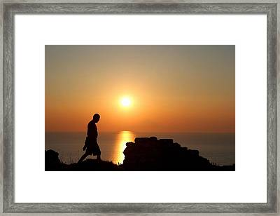 Walking Paradise Framed Print