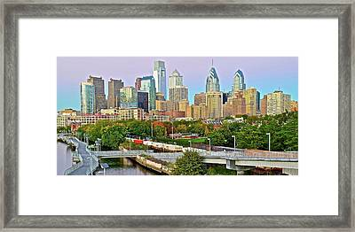 Walking Path To Philadelphia Framed Print by Frozen in Time Fine Art Photography
