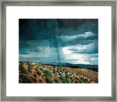 Walking Rain Framed Print by Donna Clair