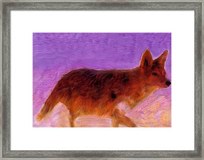 Framed Print featuring the painting Walking Strong by FeatherStone Studio Julie A Miller