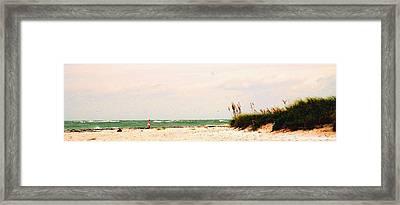 Walking The Beach Framed Print by Ian  MacDonald