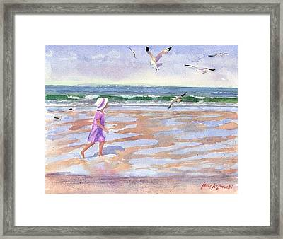 Walking The Cape Framed Print by Laura Lee Zanghetti