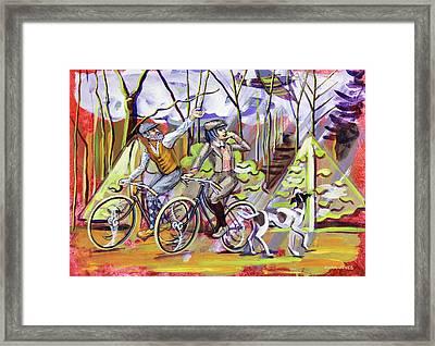 Walking The Dog 1 Framed Print by Mark Jones