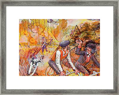 Walking The Dog 7 Framed Print