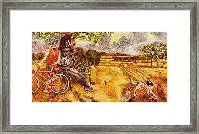 Walking The Dog After Gainsborough Framed Print
