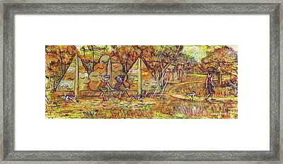 Walking The Dog 4 Framed Print