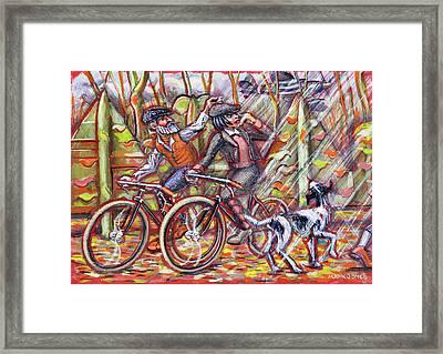 Walking The Dog 2 Framed Print by Mark Jones