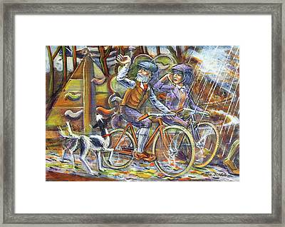 Walking The Dog 3 Framed Print