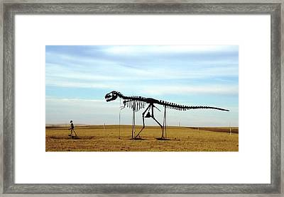 Walking The Dog South Dakota Framed Print