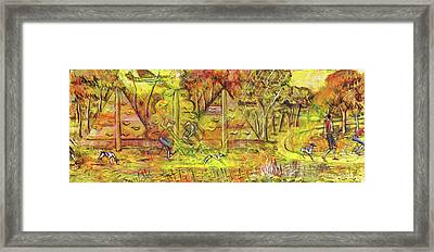 Walking The Dog 5 Framed Print