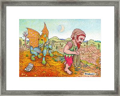 Walking The Gargoyle Variation Framed Print by Bill Perkins