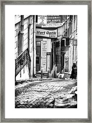 Walking The Hill Framed Print by John Rizzuto