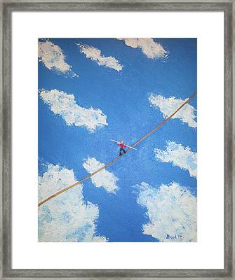 Walking The Line Framed Print
