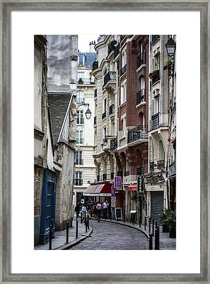 Walking The Streets Of Paris Framed Print