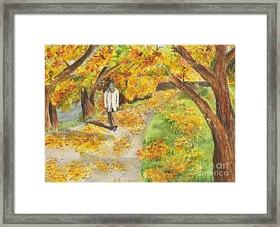 Framed Print featuring the painting Walking The Truckee River by Vicki  Housel