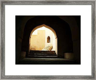 Walking Through Framed Print by Sunaina Serna Ahluwalia