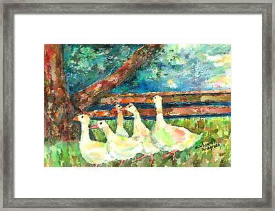 Walking Through The Grass Framed Print by Arline Wagner