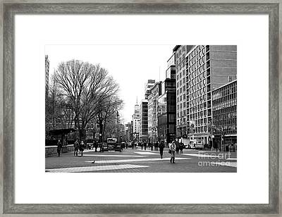 Walking Through Union Square Framed Print