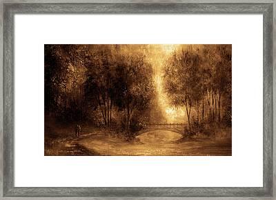 Walking Together Framed Print by Ann Marie Bone