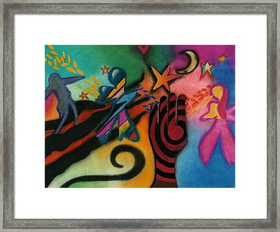 Walking Toward The Light Framed Print by Christine Perry