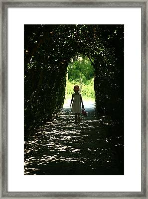 Walking Towards Light Framed Print