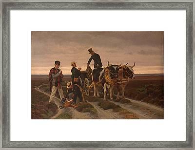 Walking Trip. Jutland Framed Print