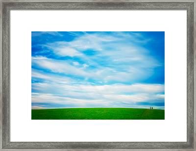 Walking Under Cloud Formation- Retzer Nature Center - Wisconsin Framed Print