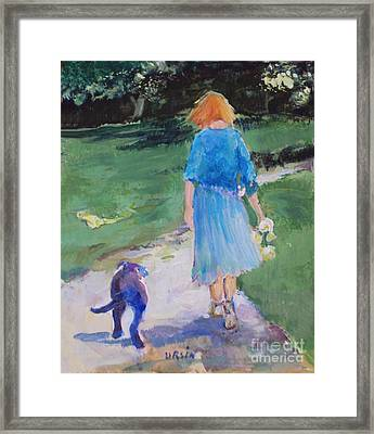 Walking With An Old Friend Framed Print