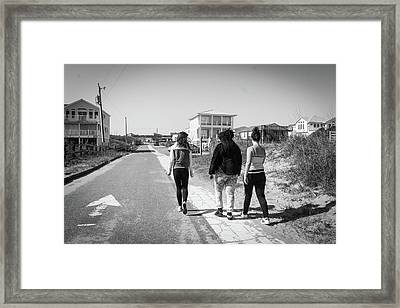Walking With Friends Framed Print