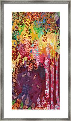 Walking With The Forest Spirits Part 3 Framed Print by Jennifer Lommers
