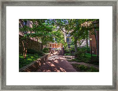 Walkway Along Dietrich Library - University Of Pennsylvania Framed Print