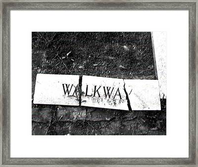 Walkway Framed Print by Utopia Concepts