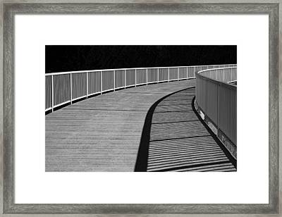 Framed Print featuring the photograph Walkway by Chevy Fleet