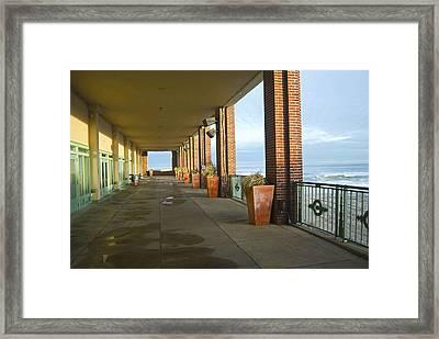 Walkway Convention Hall Framed Print by Andrew Kazmierski