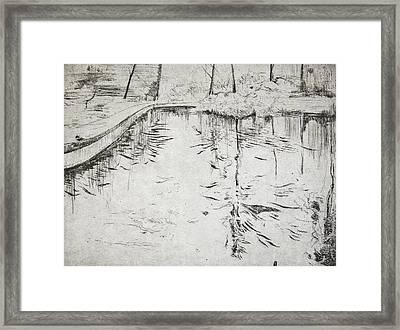 Walkway   Kew Gardens Framed Print by Calum McClure