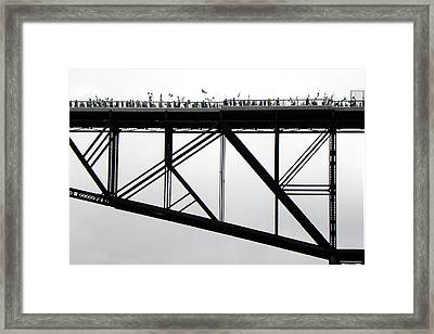 Walkway Over The Hudson No 11  Opening Day 2009 Framed Print