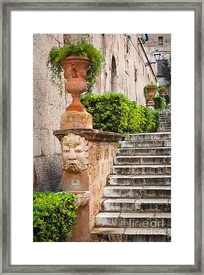 Walkway - Palma De Mallorca Framed Print