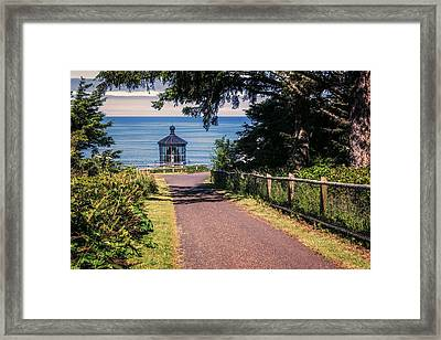 Walkway To Cape Meares Lighthouse Framed Print