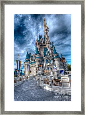 Walkway To Cinderellas Castle Framed Print