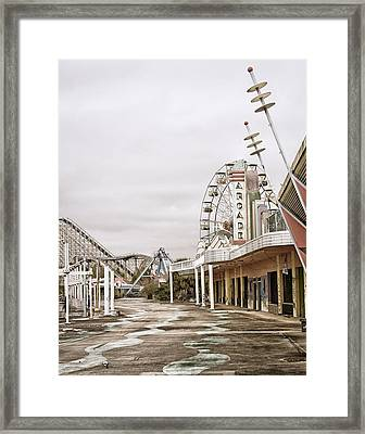 Walkway To The Arcade Framed Print by Andy Crawford